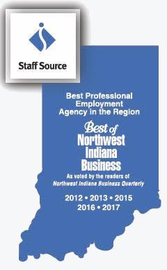 Staffsource - best Northwest Indiana business award 2103